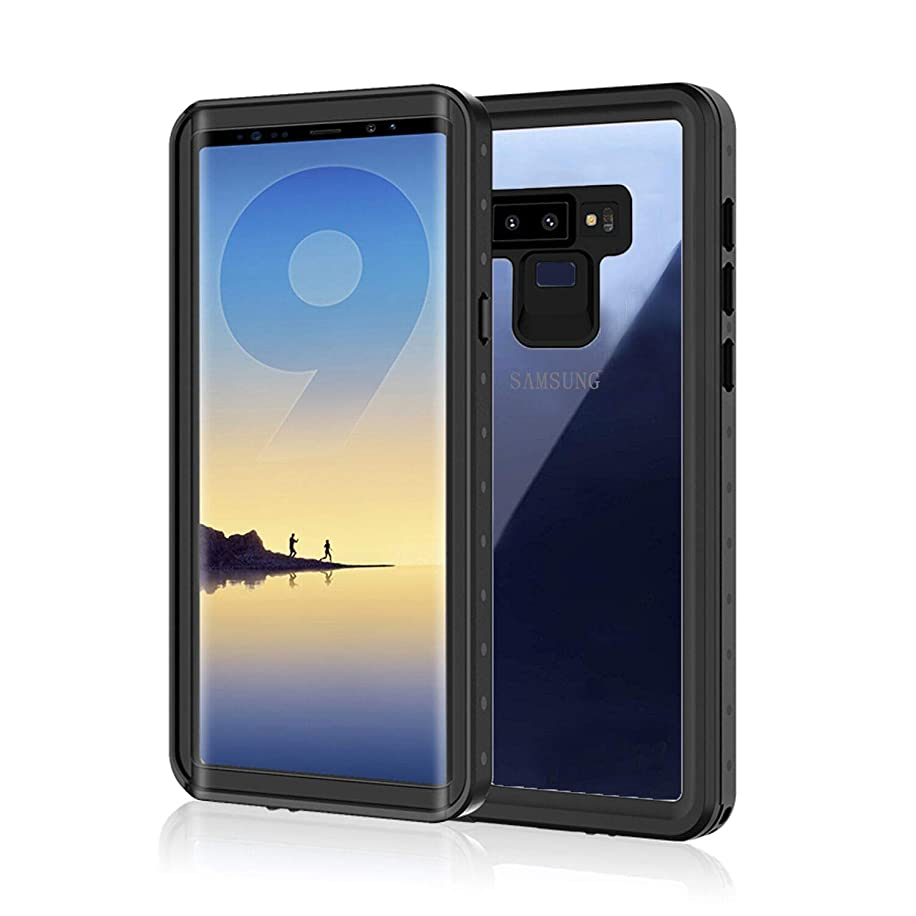 Samsung Galaxy Note 9 Waterproof Case, Amever IP68 Underwater Snow Proof, Shockproof, Built-in Screen Protector with Hand Strap Full Sealed Protective Cover for Galaxy Note 9 - Transparent Back Cover
