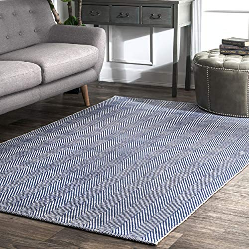 nuLOOM Navy Hand Loomed Kimberely Area Rug, 5' x 8'