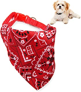 Personalised Dog Collar Bandana Scarf Collar with Safety Buckle for Dogs and Puppies