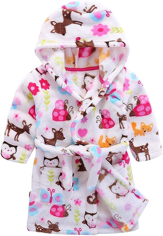 Baby 2021new Wholesale shipping free Boy Girl Plush Bathrobe Infant Tower Robe Hooded