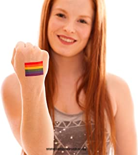 25 x Regenboog Tattoo Vlag - CSD LGBT Tattoo - Gay-Pride Tattoo - Gay Flag (25)