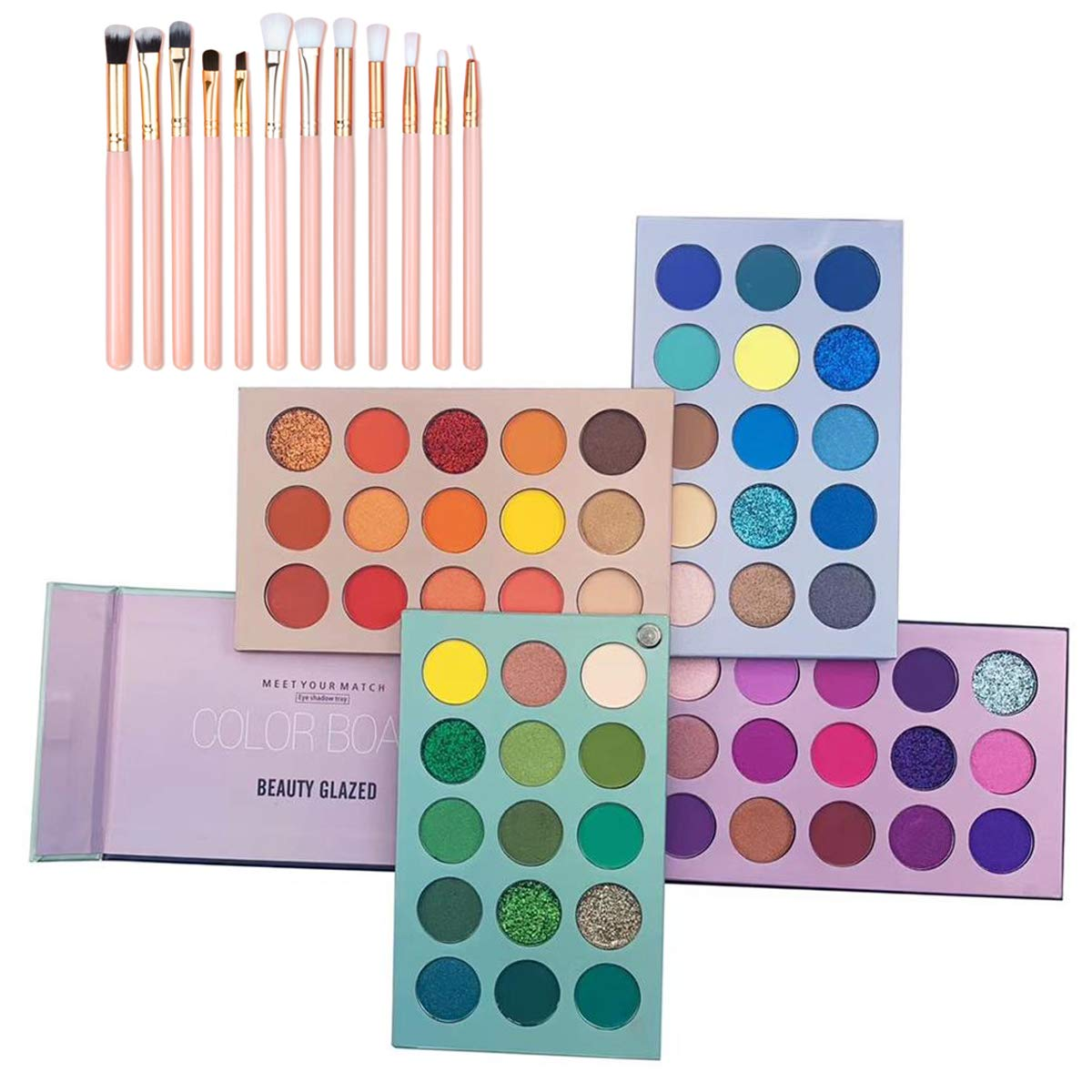 Bestnice 60 Colors Eyeshadow Max 66% OFF Palette 4 1 Board Makeup Free Shipping New Color in