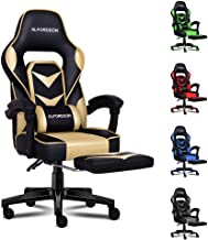 ALFORDSON Gaming Chair Racing Chair Executive Sport Gordon Office Chair with Footrest PU Leather Armrest Headrest Home Cha...
