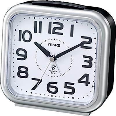 MAG(マグ) 目覚まし時計 アナログ アップタイム ライト付き シルバー T-719SM-Z
