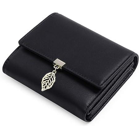 GOIACII Geldbeutel Damen aus glattem und weichem Kunstleder, Geldbörse Damen klein und im Kurzformat, Portemonnaie für Frauen mit RFID Schutz und viele Fächer
