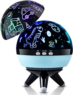 Kids Night Light,Dinosaur Night Light,Cars Projector Lamp Toy for Baby,Rotating Night Light & 8 Colors Dimmable Night Light for Bedroom,Fun Night Light for Kids Christmas Birthday Gifts