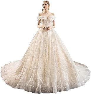 Abiti da sposa per la sposa delle donne Off spalla Abito da ballo A-line Abito da sposa Innamorato Scintillante Paillettes...