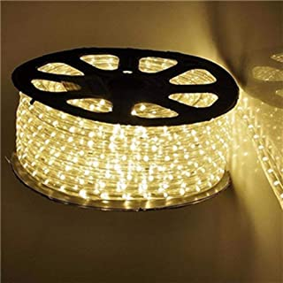 Qulaten LED Rope Lights 120V Waterproof Connectable Led Strip Lights for Indoor Outdoor Rope Lights Waterproof Decorative Lighting Backyards Garden and Party Decoration (150ft, Warm White)