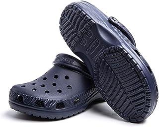 Mens Womens Clogs Garden Kitchen Beach Slippers Summer Slip On Sandals Lightweight Casual Mules Black Pink Blue Brown Oran...