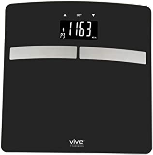 Vive Precision Smart Body Fat Scale - BMI Scales Weight and Body Fat - App Included (Black)