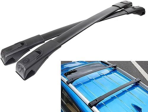 lowest Mallofusa for 13 14 15 popular 16 Toyota RAV4 online sale Black Roof Rack Cross Bars Pair Aluminum outlet online sale