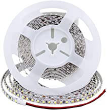 ESD Tech 24V LED Strip Light – 5m/16.4ft Long Tape, 3000K, 820Lm/m, 600 Units, Dimmable, Warm White, Non-Waterproof, 2-Pin Connector. TV's, Kitchens, Cabinets. Self-Adhesive, Hardwire, SMD 3528