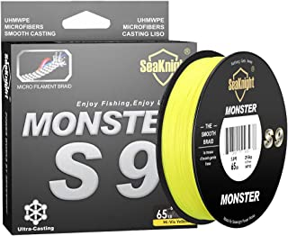 SeaKnight Monster W8 Braided Lines 8 Strands Weaves 328Yards/547Yards Super Smooth PE..