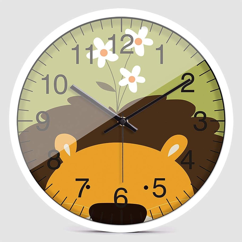popular CJH Cabeza Cabeza Cabeza de león de Dibujos Animados Animal Reloj de Parojo Creativo Clásico Simple Moda Dormitorio Sala de Estar Reloj blancoo  diseños exclusivos