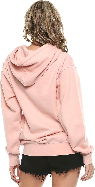Urban Look Womens Relax Fit Everyday Fleece Hoodie Pullover Sweatshirt