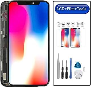Top Repair iPhone X フロントパネル A1865、A1901対応液晶パネルセット 画面交換用アイフォンx タッチパネル 修理工具付き ガラスフィルム