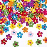 150 Stück Filz Blume DIY, Selbstklebende Filz Blumen,