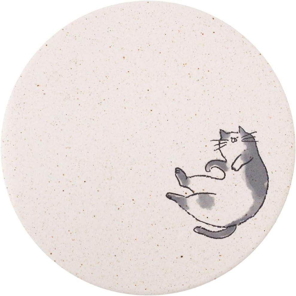 &NE 日本製 珪藻土コースター ねこ柄