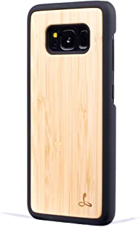 Snakehive Samsung Galaxy S8 Plus Case, Wood Back Case Wood Cover for Samsung Galaxy S8 Plus - Made from Real Wood from Bamboo
