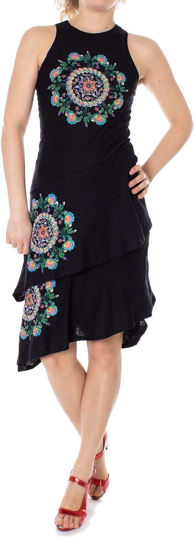 Desigual Women's 19SWVK02BLACK Black Cotton Dress