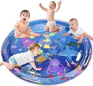 Tapis D'eau Gonflablede Bébé ,GOLDGE Tapis de Jeu en PVC Imperméable,Énorme 100*100cm Centre d'Activité Amusante Doux et C...