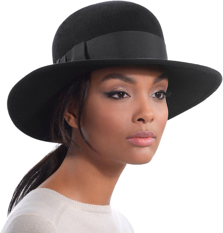 Eric Javits Luxury Fashion Designer Women's Headwear Hat  Padre  Black