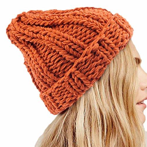 Auifor damesmode warm houden handmatige wol gebreide oorbeschermers hoeden meisjes petten