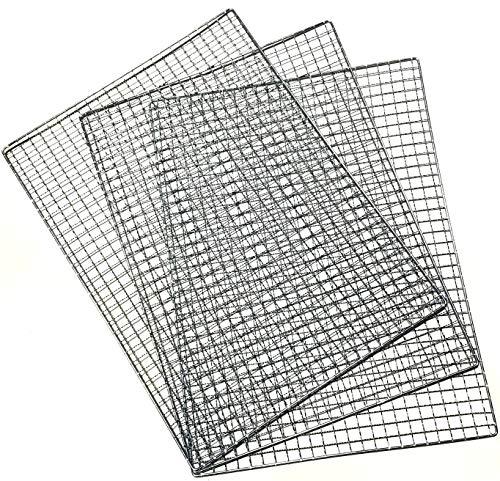 ActiveIsland バーベキュー 網 コンロ 替え網 BBQ アウトドア キャンプ a490 (40×30cm, 3枚セット)
