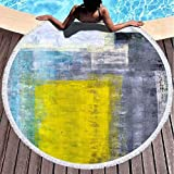 Xuanlin Toalla de Manta de Playa Redonda, Toallas de Playa para Mujeres, Toalla...