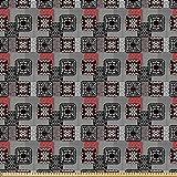 ABAKUHAUS Ethnisch Microfaser Stoff als Meterware,