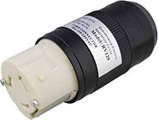 ABN L5-50R Connector – 50 Amp Twist Lock Inlet, Locking Power Cord Connector, Locking Power Inlet Plug, 50A 125/250V