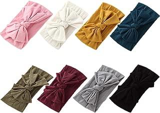 Baby Girl Nylon Headbands Newborn Infant Toddler Hairbands Knotted Children Soft Headwrap Hair Accessories