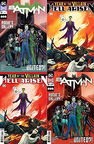 BATMAN #89 / YOTVHA #3 1st PUNCHLINE (1st & 2nd Prints) 4-Books-Combo