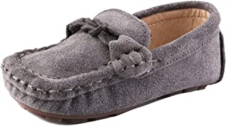 2b690551bd0 UBELLA Children Girls Boys Suede Leather Slip-on Loafers Kids Casual Boat  Dress Shoes