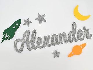 Türbuchstaben Filzbuchstaben - PERSONALISIERT - Farbe wählbar - Schriftzug Türschild Name Dekoration fürs Kinderzimmer
