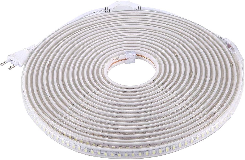 PEJGD LED Strip 240W Gehuse wasserdicht IP65 SMD 5730 LED-Lichtleiste mit Netzstecker, 120 LED m, Lnge  10m, 220V-LED-Lampe LED Leiste (Farbe   Warmes Wei)