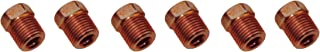 7/16-24 Inverted Flare Red Zinc Tube Nut Fitting 3/16 Brake Line Tubing 6pc (D-3-11)