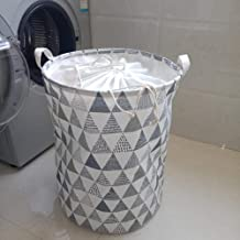 Cxjff Collapsible Laundry Hamper Folding Laundry Hamper Bucket Large Cloth, Moisture-Proof, Dirty Clothes Storage Bag, Bea...