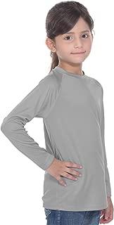 PIQIDIG Girls Shirts Long Sleeve Spf50+ - Youth Rash Guard Lightweight Sunsuits 7-14Years
