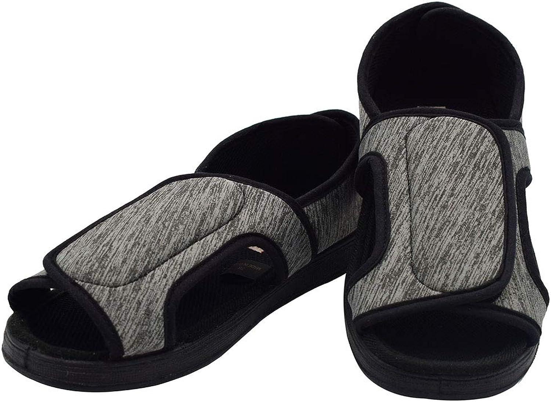 NKeepB Adjustable Width Diabetic Sandals - Fasciitis Flat Feet shoes for Elder Women LD6016