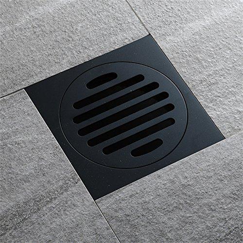 Lamcomt Extensor de Grifo para niños Nuevos desagües Baño de Cobre Black Residuos Drenajes de Suelo Cubierta de Piso Anti-Olor Alojamiento Ducha Drenaje Talleador Hardware (Color : Negro)
