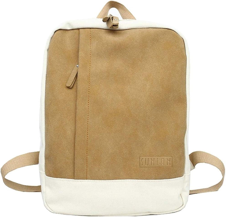 RABILTY Fashionable Large Capacity Rucksack Rucksack Look Rucksack Back High School Student School Commuter Light Weight Bag (color   Brass)