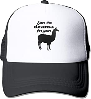 AiguanSave The Drama for Your Llama Sun Protection Adjustable Caps Quick Dry Mesh Hat Black
