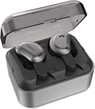 Wireless Headphones - True Bluetooth Headphones Stereo Bass Mini Headset Share in-Ear Earphones with Portable Rechargeable Cockpit for Sports Office Trave(Black)