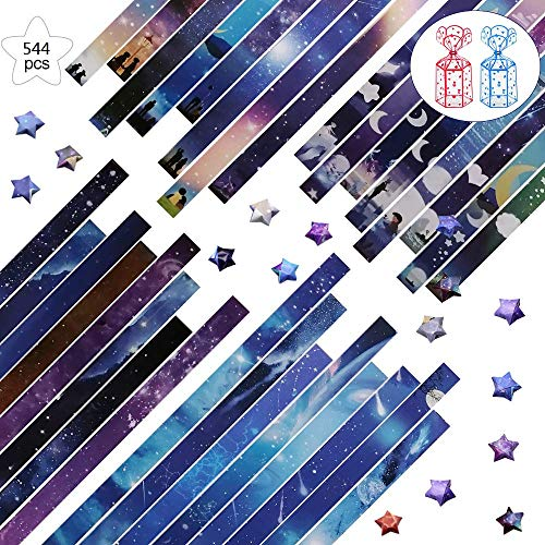 544 Sheets Origami Stars Paper with…