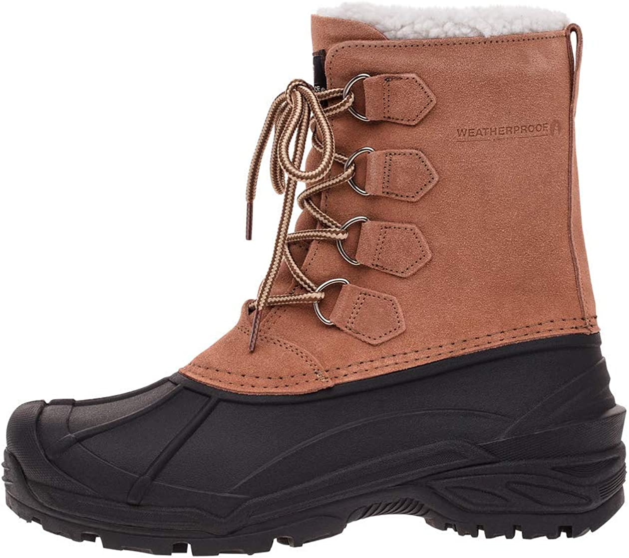 Max 44% OFF Weatherproof Mens Max 66% OFF Snow Boots with All-Weather Insul Lace Closure