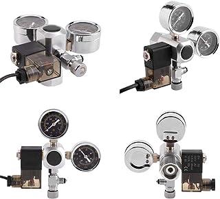 Rosvola Sistema de Acuario Dual Gauge, Regulador de presión de CO2 Burbuja solenoide Contador de