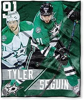 Northwest 575 NOR-1PLY575003019RET Dallas Stars NHL Tyler Seguin Silk Touch Throw, 50 x 60 in