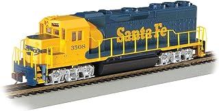 Bachmann Industries EMD GP40 DCC Equipped Locomotive Santa Fe #3508 HO Scale Train Car, Blue/Yellow