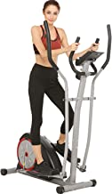 emdaot Elliptical Machine Trainer for Home Use, Exercise Cardio Workout Fitness with Digital Monitor, Pulse Rate Grips, Magnetic Resistance